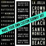 Create Your Own Custom Bus/Subway Scroll Typography Word Art Vintage/Modern Word Art - 11.75x36