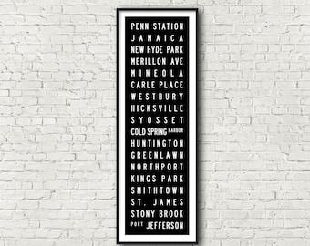 Port Jefferson Line LIRR Long Island Railroad New York Subway Art Print 11.75x36