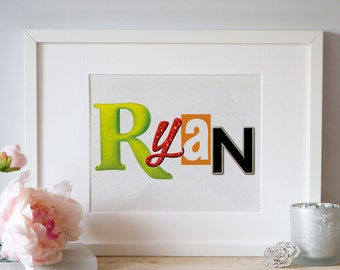 Personalized Broadway Show / Musical Logo Name Art 8x10: FREE SHIPPING