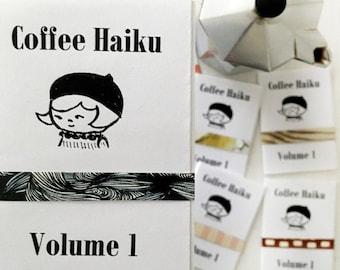 Mini Zine A7 Coffee Haiku Poetry Zine