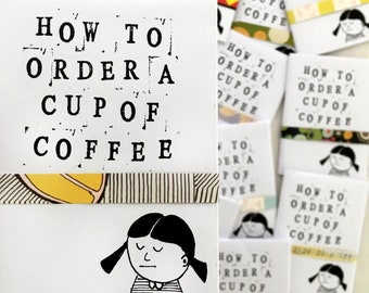 Mini Coffee Zine, A7 Size, Funny Gift for Coffee Lovers (Contains Swear Words)
