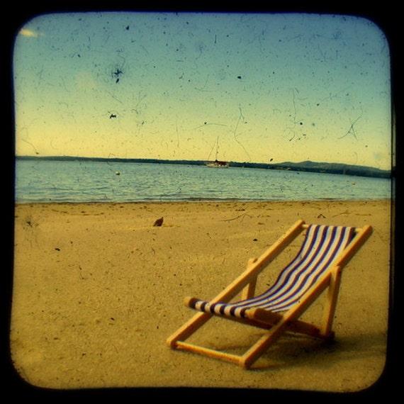 Beach Photo Print Endless Summer Sea Breeze Beach Chair Golden Etsy