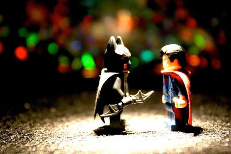 Superman vs Batman Legos  Photograph  Various Sizes image 0