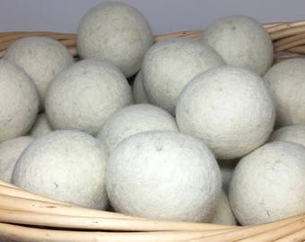 Natural Wool Dryer Balls -- Set of Seven