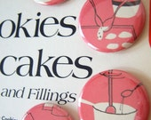 Retro Kitchen Divine  - Diamond Girl Thumbtacks OR Magnets  upcycled OOAK paper art