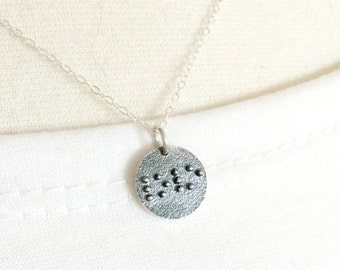 Braille Jewelry- Love Necklace - Braille Necklace - Secret Message - Love Jewelry - Sterling Silver Love Charm - Braille Charm, Gift for Her