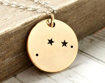 Aries Necklace - Zodiac Jewelry - Zodiac Necklace - Constellation - Aries Jewelry - Stars - April Birthday Gift for Her - Sterling Silver