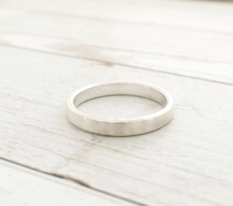 c31a340c0a338 Thin sterling silver ring - stamping blank - simple wedding band