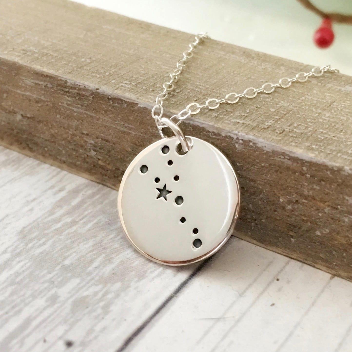 Taurus Necklace Zodiac Jewelry April May Birthday Gift For