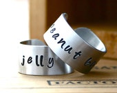 Peanut Butter and Jelly BFF ring set. Best friend gift.