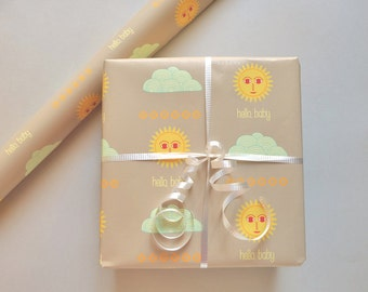 hello, baby wrapping paper