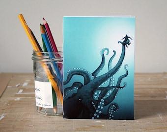 Giant Octopus Notebook - Jotter - Unlined Notebook - A6