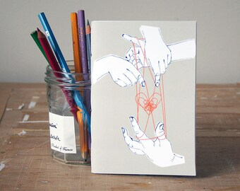 Cat's Cradle Notebook - Jotter - Unlined Notebook - A6