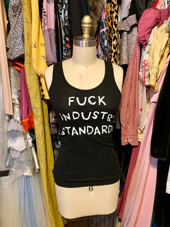 Diy Black F*CK Industry Standards tank top Small
