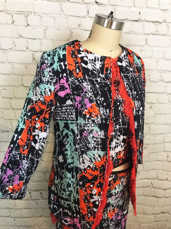 Anti.Label Neon Collage Print Jacket--Small