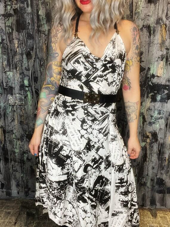 AntiLabel White Knit Serial Killer Draped Dress small medium