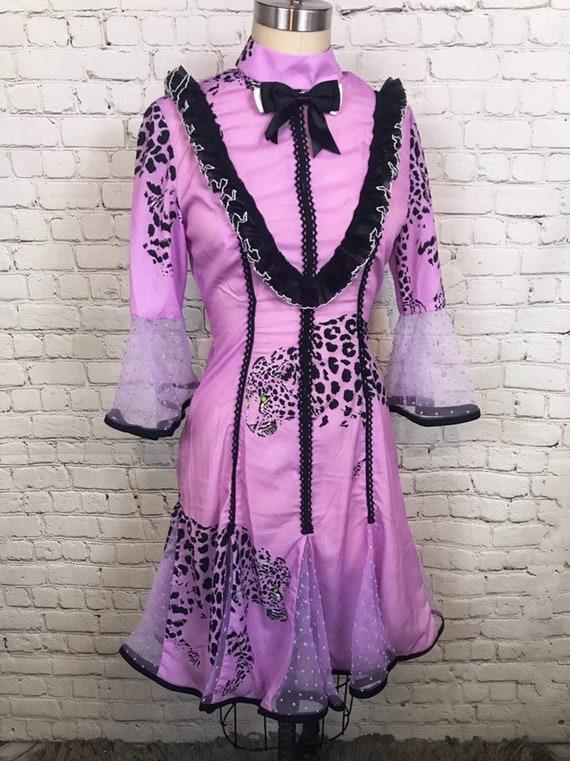 Anti.Label Lilac Leopard Ruffled Dress--Small