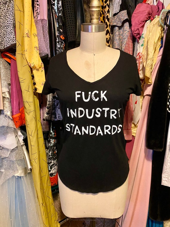 Thin Black F*CK Industry Standards T shirt Medium