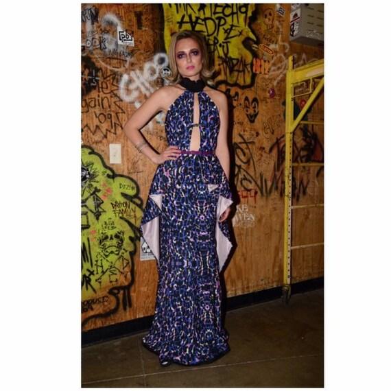 Anti.Label Purple Leopard Maxi Dress--Medium