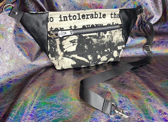 AntiLabel Oatmeal Anti Fashion Serial Killer Metal Zip Hip Sack