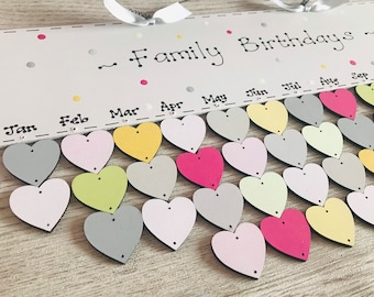 Personalised Family Friend Birthday Board ~ Special Occasions ~ Reminder ~ Calendar ~ Planner ~ Celebrations ~ Dates to Remember *Christmas*