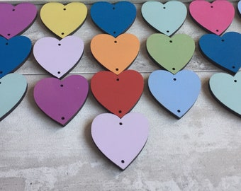 Extra Tokens for Birthday Calendar Boards ~ 3cm Hearts, Circles, Angels