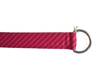 M Baby Pink Dragonfly Grosgrain Belt
