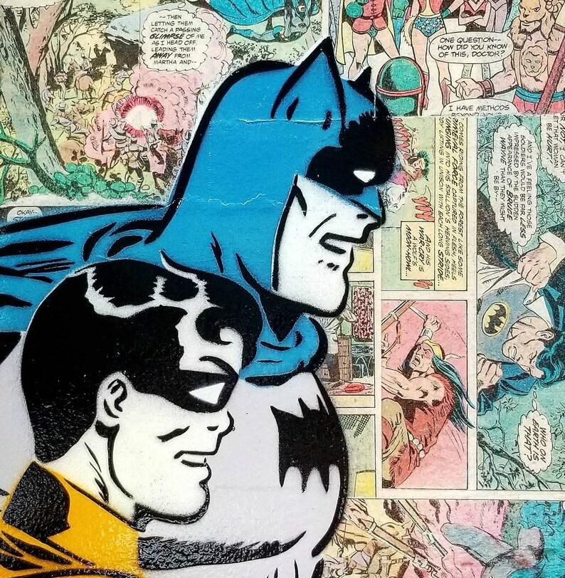 Dynamic Duo Mixed Media Graffiti Art Painting on Original Art image 0