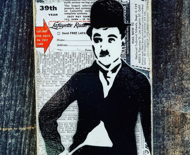 Charlie Chaplin Mixed Media Graffiti Art Painting on Original image 0