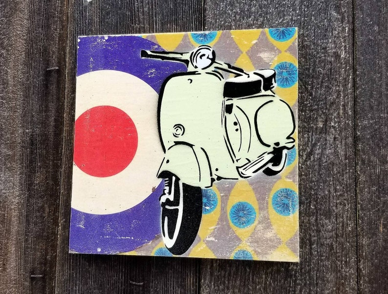 Vespa Mixed Media Graffiti Art Painting on Original Art on image 0