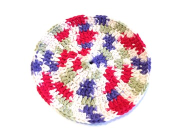 Field Of Dreams Crocheted Round Dish Cloth