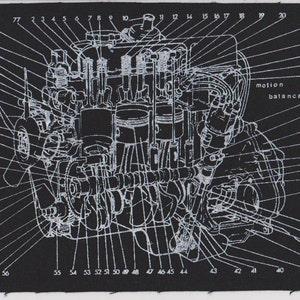 Volvo Amazon 122 B18 B20 Engine Diagram screenprint | Etsy | Volvo B18 Engine Diagram |  | Etsy