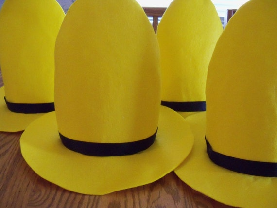 KIDS SIZE Man with the yellow hat Curious George Hats Sombrero school function