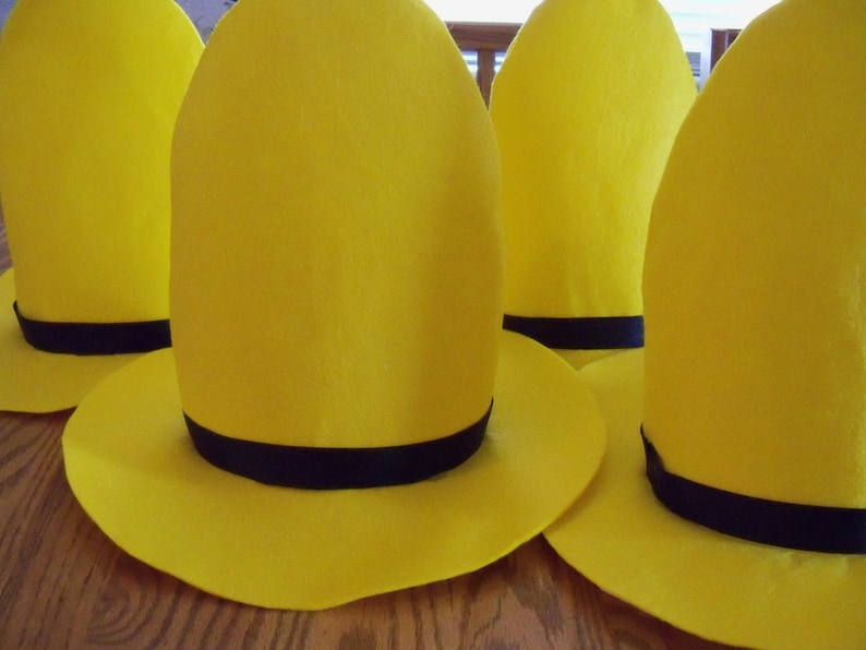 One Man In The Yellow Hat Hat New Sizing 3 Sizes Etsy