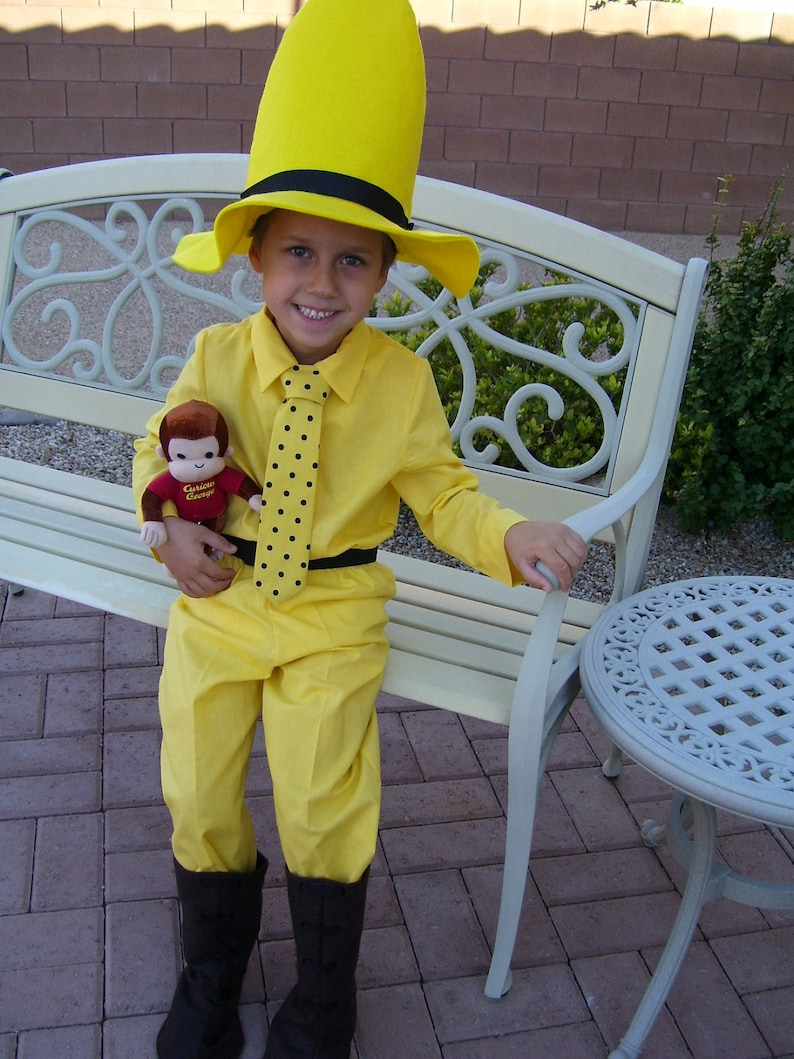 Man In The Yellow Hat Childrens Costume Child Sizes Etsy