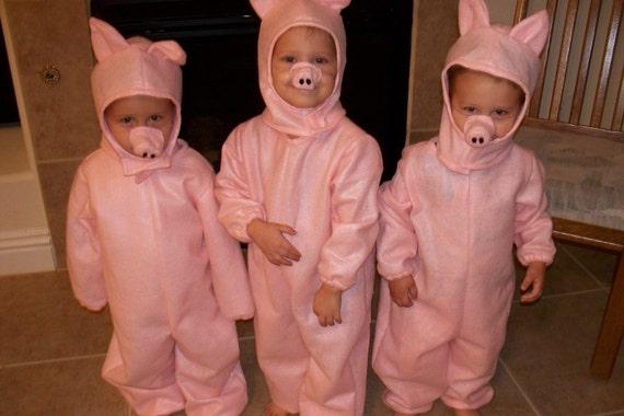 Costume de petit cochon, enfant tailles 1-6, commande un, deux ou trois!