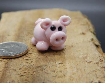 Piglet,  Lampwork Bead, Simply Lampwork by Nancy Gant, SRA G5