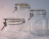 Vintage Glass Jars/ Canisters - Candy Buffet/ Storage