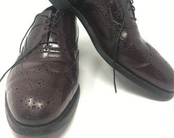 0419c7a77f3 Vintage Bostonian Iron Age Steel Toe Oxford Dress Shoes - Goodyear - Size 8W