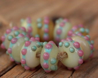 ONLY 1 AVAILABLE! Mini Donuts- 10 lampwork beads