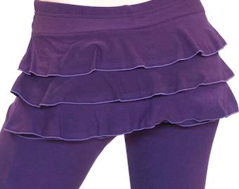 Dance and Yoga Coverup Mini Skirt -  BUSTLE SKIRT - ruffle skirt, yoga skirt, festival clothing