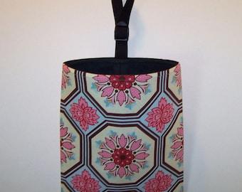 Car Litter Bag // Car Trash Bag // Auto Litter Bag // Stay Open Design! // Ginger Blossom Tile Breeze