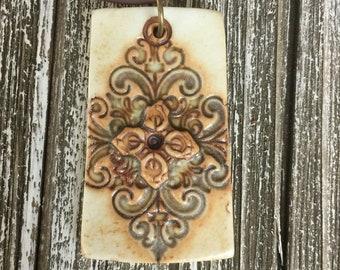 Baroque Porcelain Pendant