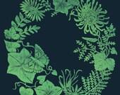 Moonflower and Chrysanthemum - Print