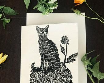 Dahlia Cat - Note Card