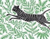 Running through Ferns - Print