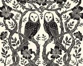 Rose Owls - Print