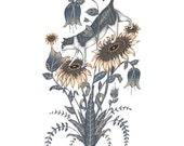 On Sunflowers - Print