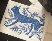 Cat in Vines Note Card