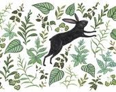Hare in Foliage - Print